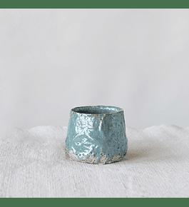 Macetero cerámica azul