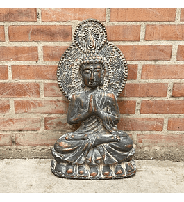 Buda mural meditando