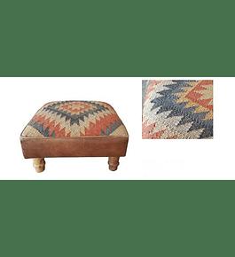 Piso cuero y tapiz kelim