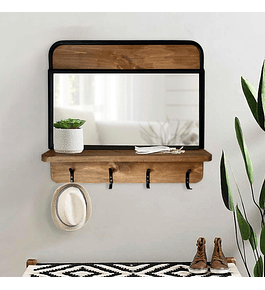 Recibidor pared y espejo