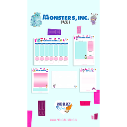 PACK 1 MONSTER INC