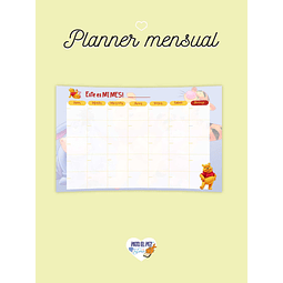 PLANNER MENSUAL POOH  2