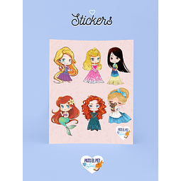 STICKER PRINCESAS