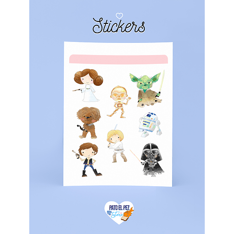 STICKER CUTE STAR WARS