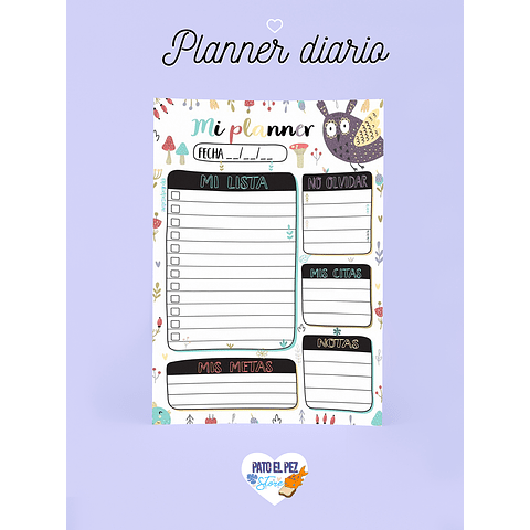 PLANNER BUHO