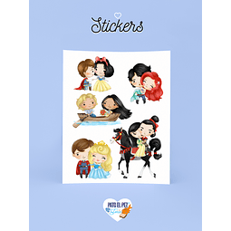 STICKER PAREJAS DISNEY