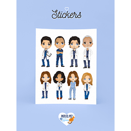 STICKER PERSONAJES GREY ANATOMY