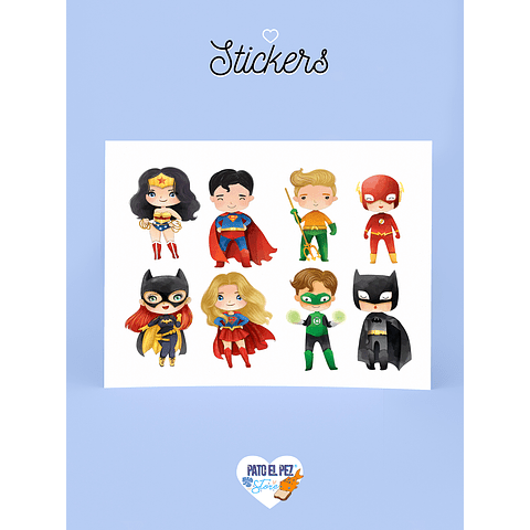 STICKER HEROES DC