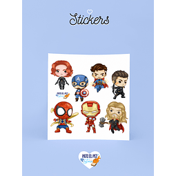 STICKER HEROES MARVEL