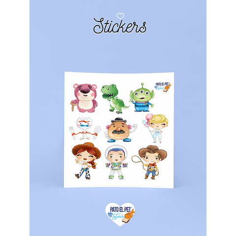 STICKER TOY STORY