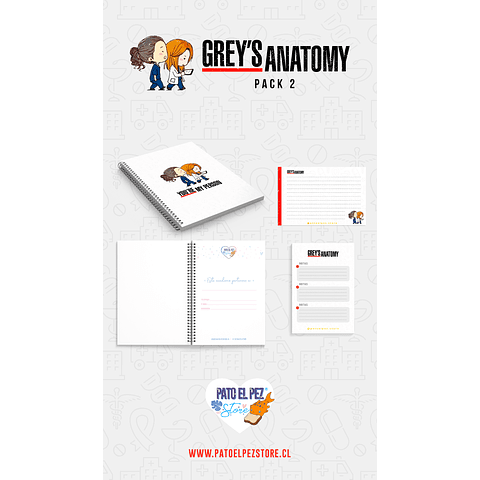PACK 2 GREYS ANATOMY