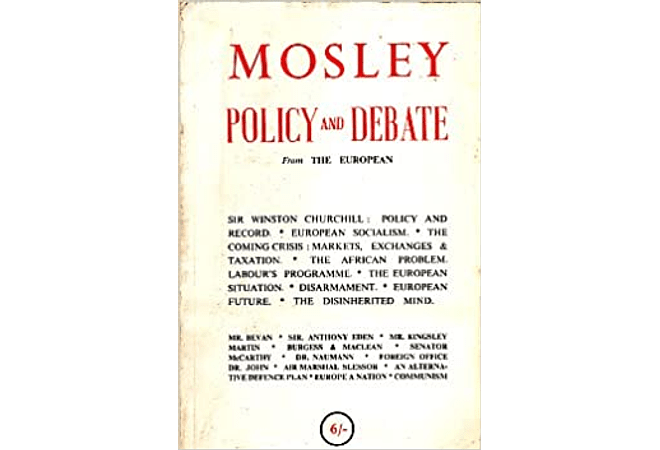 Policy and Debate by Oswald Mosley