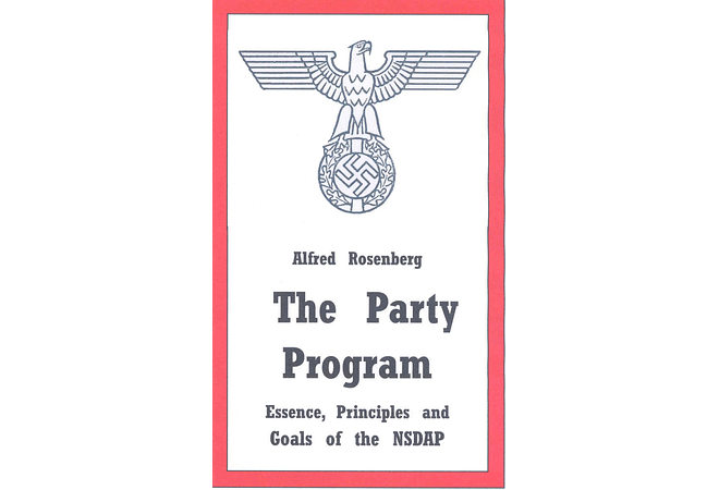 The Party Program by Alfred Rosenberg