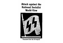 Attack Against the National Socialist World-View by Dieter Schwarz.