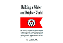 Building a Whiter and Brighter World by Ben Klassen
