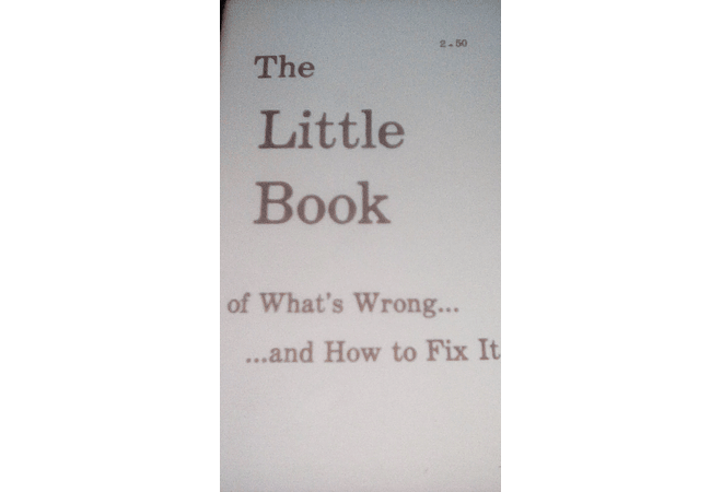 The Little Book of What's Wong...and How to Fix it by George H. Armstrong