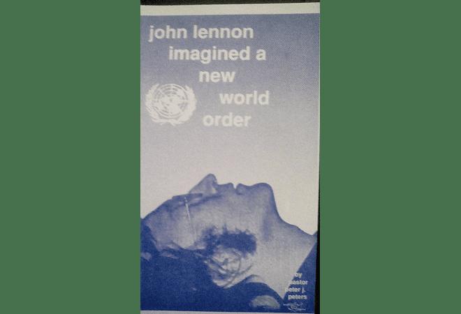 John Lennon Imagined a New World Order by Pastor Peter J. Peters