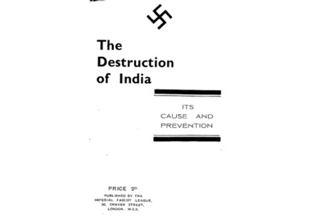 The Destruction of India: Its Cause and Prevention by Arnold Leese