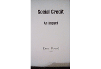 Social Credit: An Impact by Ezra Pound
