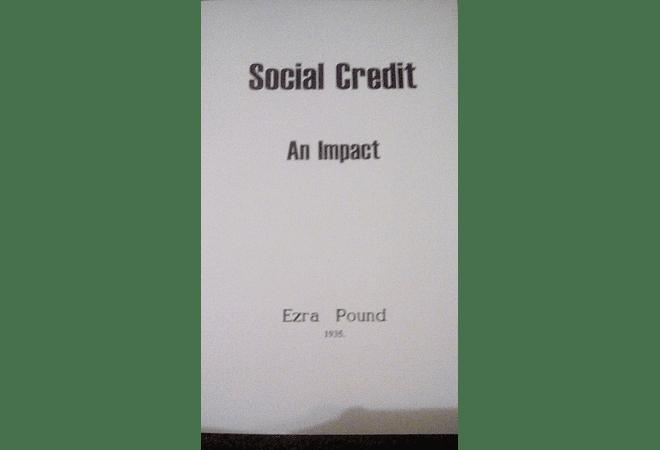 Social Credit: An Impact by Ezra Pound