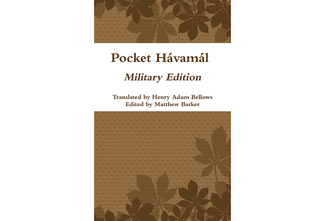 The Havamal: Words of the High One (Military Pocket Edition)