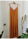 vestido UMMA bicolor ocre fuccia