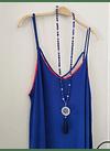 vestido UMMA bicolor azul fuccia