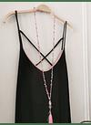 vestido UMMA bicolor negro rosa
