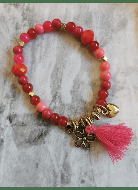 pulseras amuletos pompom