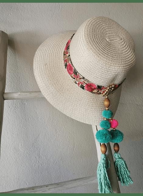sombrero verde turquesa haydee garden