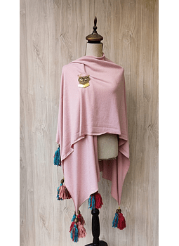 poncho palo rosa