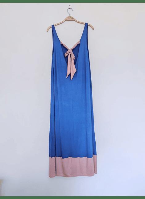 vestidos bicolor azul rosa