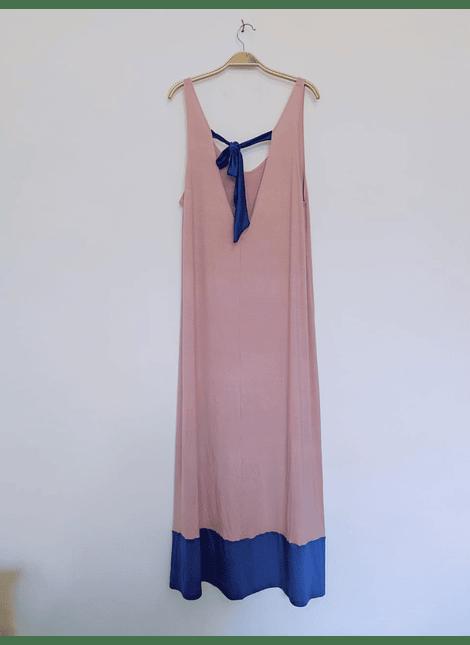 vestidos bicolor rosa-azul