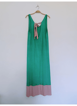 vestidos bicolor palta rosa