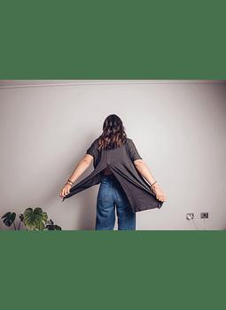 Polera escote espalda marengo