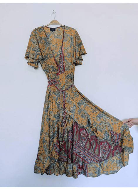 vestido india cruzado