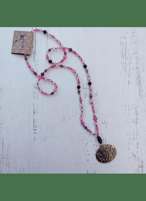 collar mix rosa granate panal
