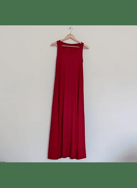 vestido basico rojo