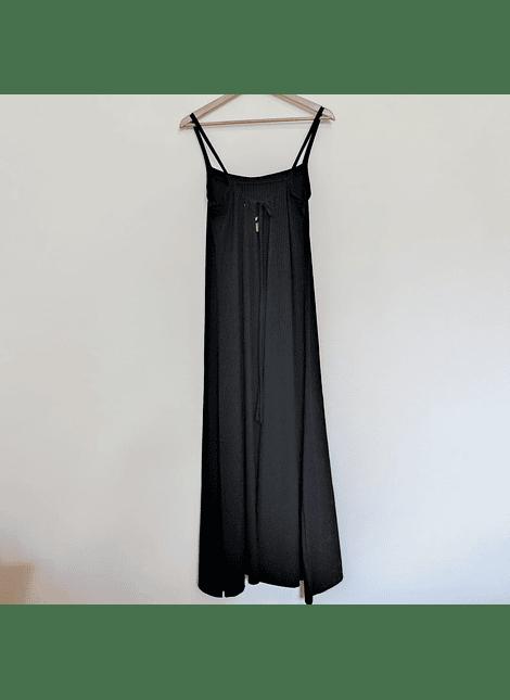 vestidos nudo espalda negro