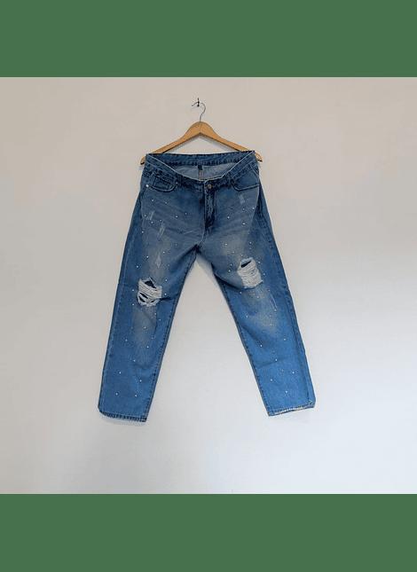 jeans mom perlitas