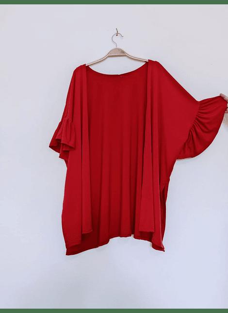kimono volados rojo