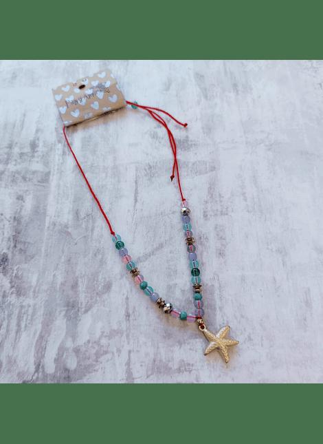 collar kids grecia gold star rojo