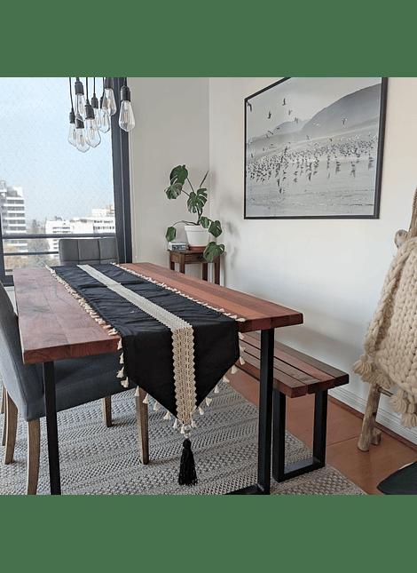 camino de mesa XL negro