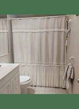 Cortina de baño crudo