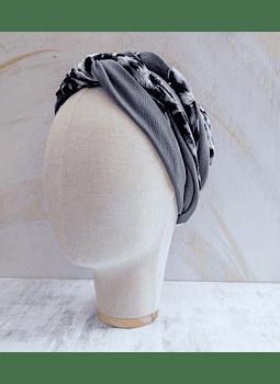 Turbante tuca grey bicolor