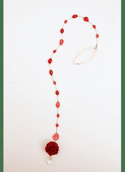 Colgante flor rojo