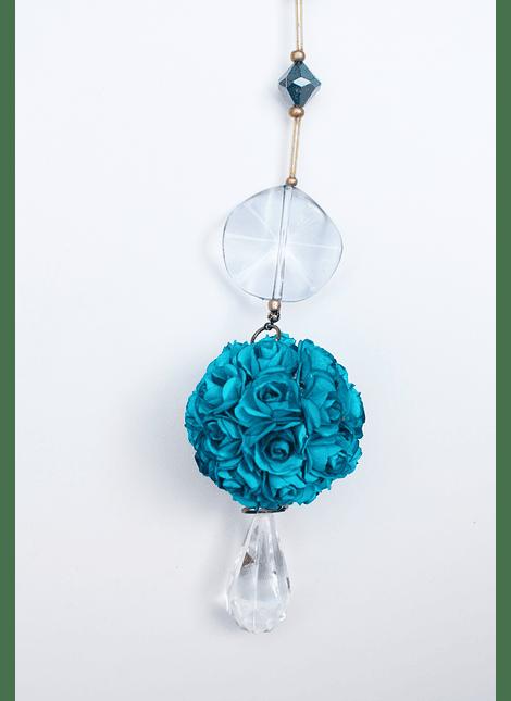 Colgante flor turquesa