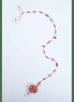 Colgante flor naranjo