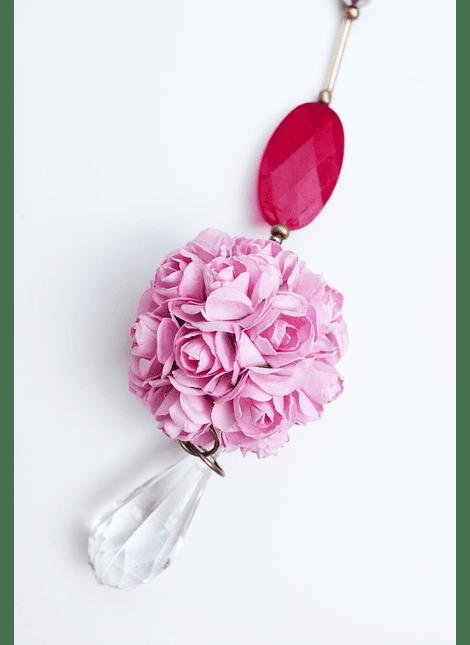 Colgante flor rosa
