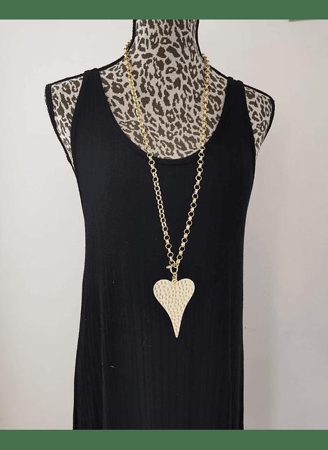 Collar Corazón plano dorado